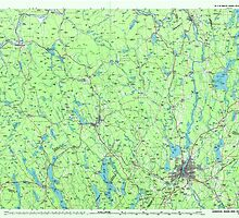 Maine USGS Historical Map Lewiston 808020 1986 100000 by wetdryvac