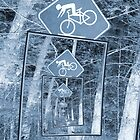 Bicycle Caution Traffic Sign by Phil Perkins