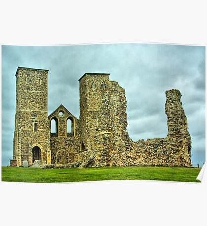 Reculver Towers Poster