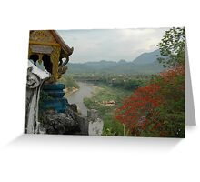 Nam Khan River, Luang Prabang, Laos Greeting Card