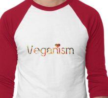 VEGANISM = LOVE  Men's Baseball ¾ T-Shirt