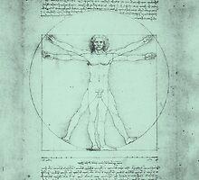 Vitruvian Man, Leonardo Da Vinci by filippobassano