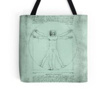 Vitruvian Man, Leonardo Da Vinci Tote Bag