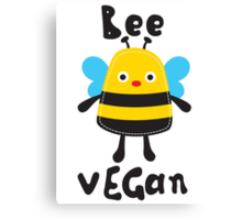 BEE VEGAN Canvas Print
