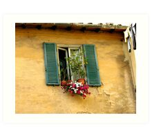 Tuscan window Art Print