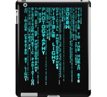 Photography Blue iPad Case/Skin