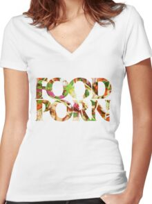 FOOD PORN Women's Fitted V-Neck T-Shirt