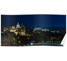 Edinburgh Castle by night Poster