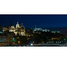 Edinburgh Castle by night Photographic Print