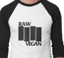 RAW VEGAN FLAG Men's Baseball ¾ T-Shirt