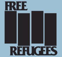 FREE REFUGEES FLAG One Piece - Short Sleeve