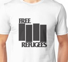 FREE REFUGEES FLAG Unisex T-Shirt