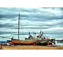 Boats at Deal1 Photographic Print