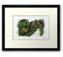 English Walled Garden Framed Print