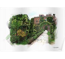 English Walled Garden Poster