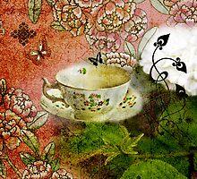 Tea Cup Red by Lisa Wilson