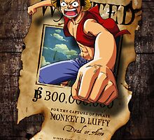 Wanted Luffy by yass-92