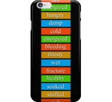 Day Z - Lots of status bars. iPhone Case/Skin