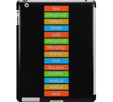 Day Z - Lots of status bars. iPad Case/Skin