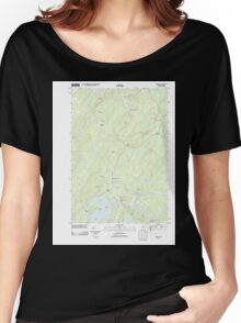 Maine USGS Historical Map Liberty 20110906 TM Women's Relaxed Fit T-Shirt