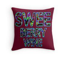 SWEE BERRY WINE Dr. Steve Brule Design by SmashBam Throw Pillow