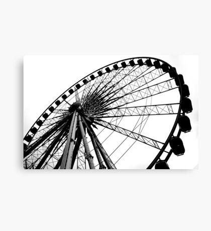 Liverpool Wheel Silhouette Canvas Print