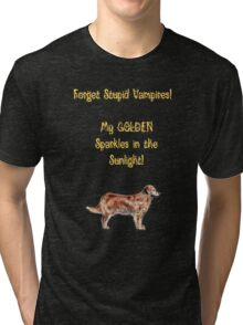 Golden Retrievers Sparkle Tri-blend T-Shirt