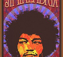 Jimi Hendrix   Fan Made Poster by Daniel Watts