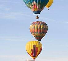 Stacked Hot Air Balloons #2504 by John Zawacki