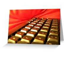 Keyboard and Pillow Greeting Card