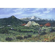 Pikes Peak, The Garden of the Gods- acrylic painting Photographic Print