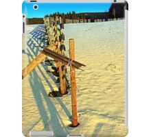 Leading fence line in winter wonderland | landscape photography iPad Case/Skin