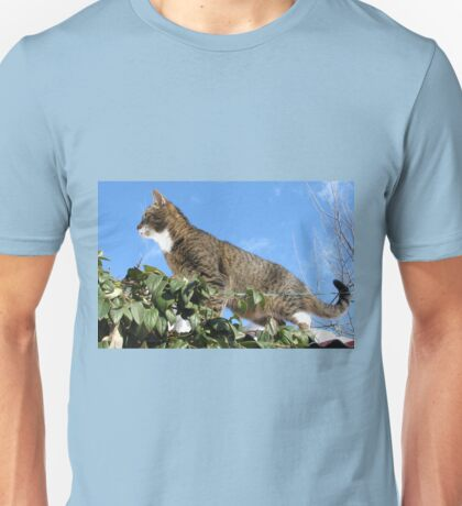 Mishu Checking Out the Bird Feeder Unisex T-Shirt