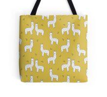 Alpaca - Mustard by Andrea Lauren Tote Bag