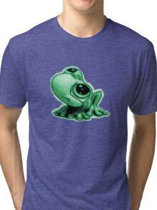 Green Little Frog Tri-blend T-Shirt