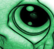 Green Little Frog Sticker