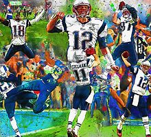New England Patriots 2015 Super Bowl Champions Collage by John Farr