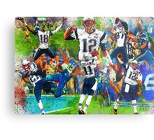 New England Patriots 2015 Super Bowl Champions Collage Metal Print