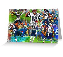 New England Patriots 2015 Super Bowl Champions Collage Greeting Card
