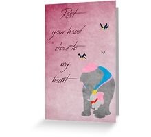 Dumbo inspired Mother's Day design. Greeting Card