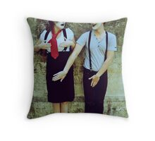 Private Mime Parts Throw Pillow