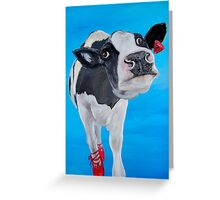 The Fresian Cow who had dreams of being a ballet dancer Greeting Card