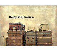 Vintage Brown Steamer Trunks and Luggage Photographic Print
