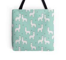 Alpaca - Mint by Andrea Lauren Tote Bag