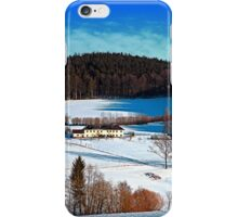 Winter wonderland scenery on a sunny afternoon | landscape photography iPhone Case/Skin