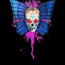 Butterfly sugar skull by barry neeson
