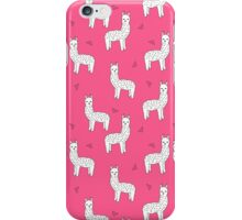 Alpaca - Pink by Andrea Lauren iPhone Case/Skin