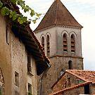 Church on the Hill - Nanteuil-en-Vallée by Pamela Jayne Smith