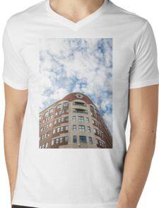 Curved Building Under Brilliant Skies Mens V-Neck T-Shirt