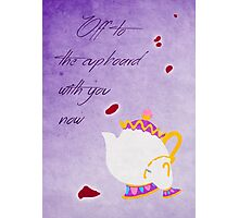 Beauty and the Beast inspired Mother's Day design. Photographic Print